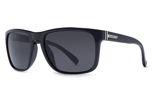 Von Zipper - Lomax Black Gloss BGX Sunglasses, Grey Glass Polarized Lenses