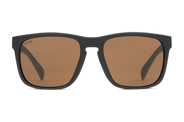 533a03ece20 VonZipper - Lomax Soft Touch Black Satin Sunglasses   Wildlife Bronze Lenses