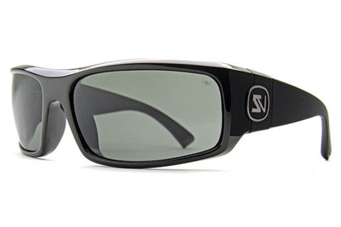 VonZipper - Kickstand Black Gloss BPP Sunglasses, Grey Poly Polarized Lenses