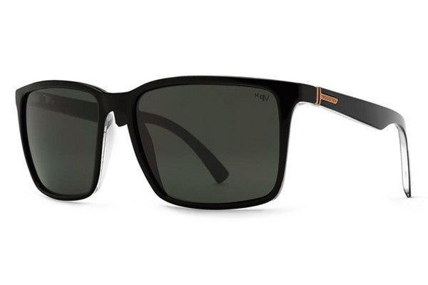 Von Zipper - Lesmore Black Gloss Crystal BMY Sunglasses, Grey Meloptics Polarized Lenses