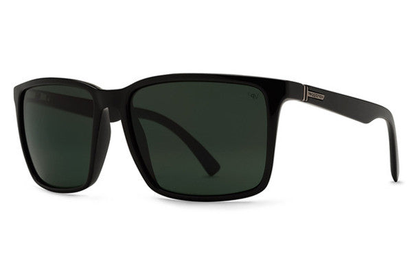 VonZipper - Lesmore Black Smoke Satin BSP Sunglasses, Grey Poly Polarized Lenses