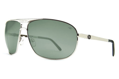 VonZipper - Skitch Silver SPP Sunglasses, Grey Poly Polarized Lenses