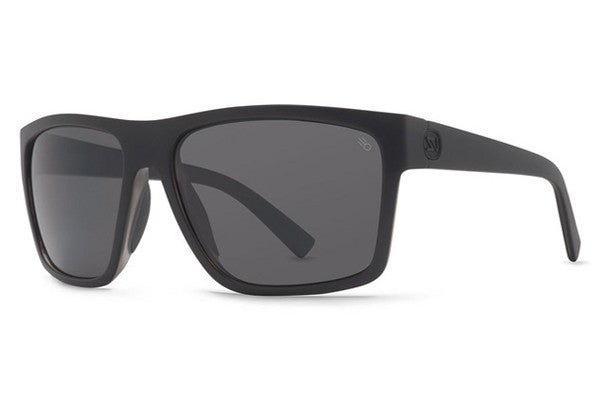 Von Zipper - Dipstick Black Satin ASP Sunglasses, Full Frontal Grey Poly Polarized Lenses