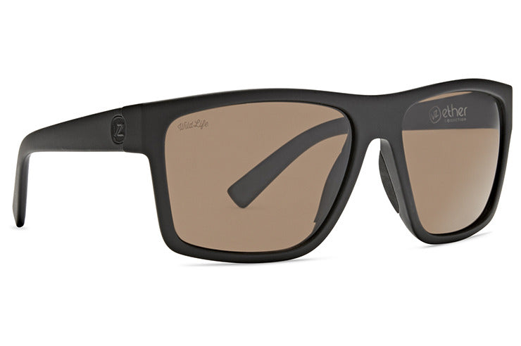 VonZipper - Dipstick Black Soft Satin Sunglasses / Wildlife Bronze Polarized Lenses
