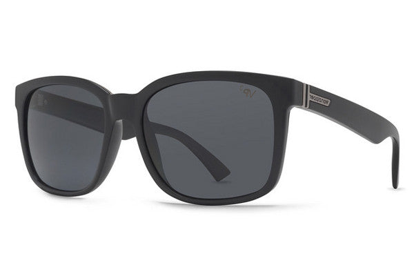 VonZipper - Howl Black Gloss BPP Sunglasses, Grey Poly Polarized Lenses