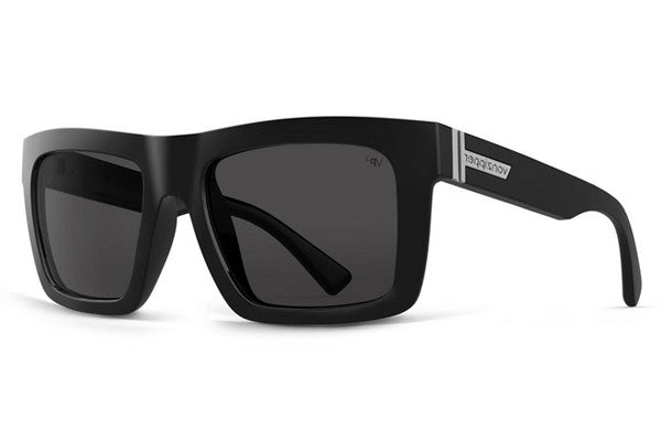 Von Zipper - Donmega Black Gloss BPP Sunglasses, Grey Poly Polarized Lenses