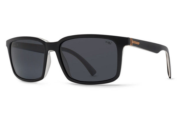 Von Zipper - Pinch Black Crystal BMY Sunglasses, Grey Meloptics Polarized Lenses