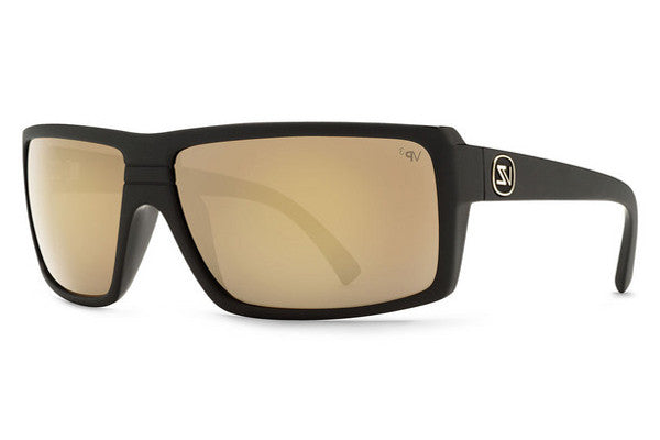 Von Zipper - Snark Black Satin Gloss Duo BDP Sunglasses, Gold Glo Polarized Lenses