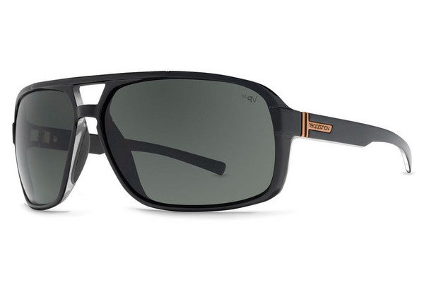Von Zipper - Decco Black Crystal BMY Sunglasses, Grey Meloptics Polarized Lenses