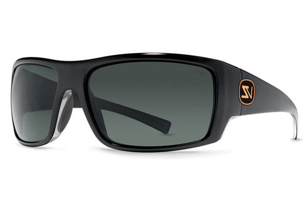 Von Zipper - Suplex Black Crystal BMY Sunglasses, Grey Meloptics Polarized Lenses