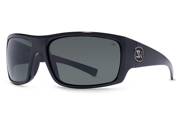 Von Zipper - Suplex Black Gloss BPZ Sunglasses, Grey Poly Polarized Lenses