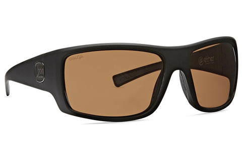 VonZipper - Suplex Black Soft Satin Sunglasses / Wildlife Bronze Polarized Lenses