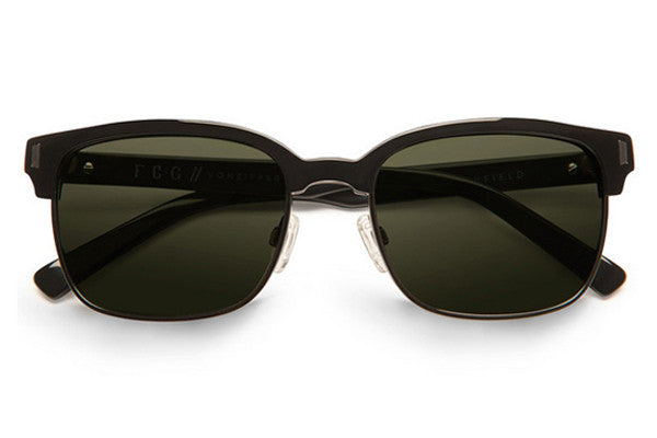 Von Zipper - Mayfield Black Gloss BKV Sunglasses, Vintage Grey Lenses