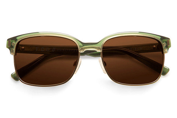 Von Zipper - Mayfield Green Translucent GRB Sunglasses, Bronze Lenses