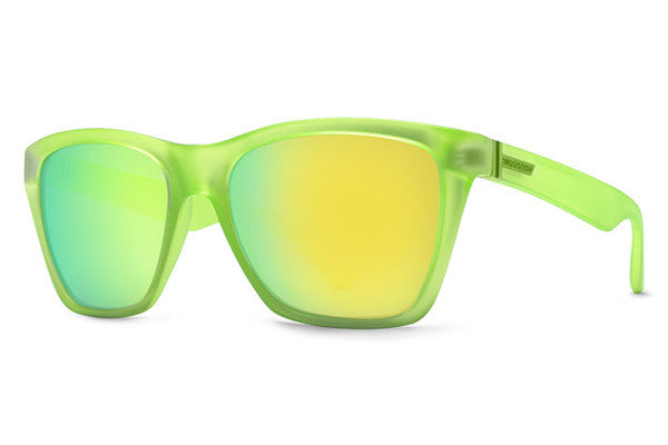 Von Zipper - Booker Brainblast Lime SGL Sunglasses, Lime Metallic Lenses