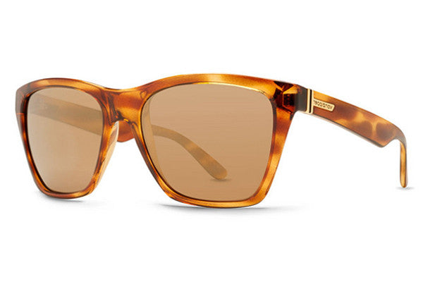 VonZipper Booker Tortoise Gloss TRG Sunglasses, Gold Glo Lenses