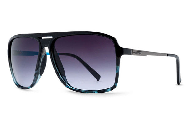 Von Zipper - Hotwax Black Blue BLG Sunglasses, Gradient Lenses