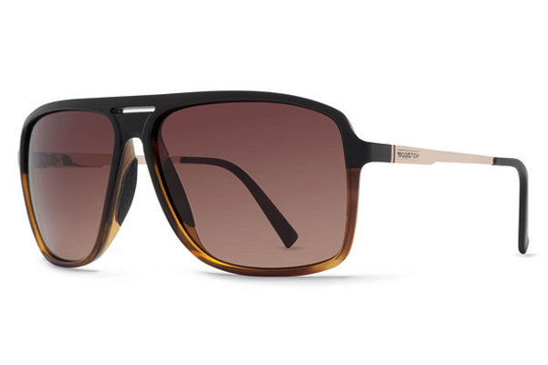 Von Zipper - Hotwax Hardline Black Tortoise HTG Sunglasses, Brown Gradient Lenses