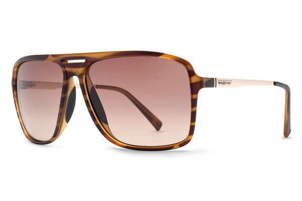 Von Zipper - Hotwax Tortoise Satin TOR Sunglasses, Gradient Lenses