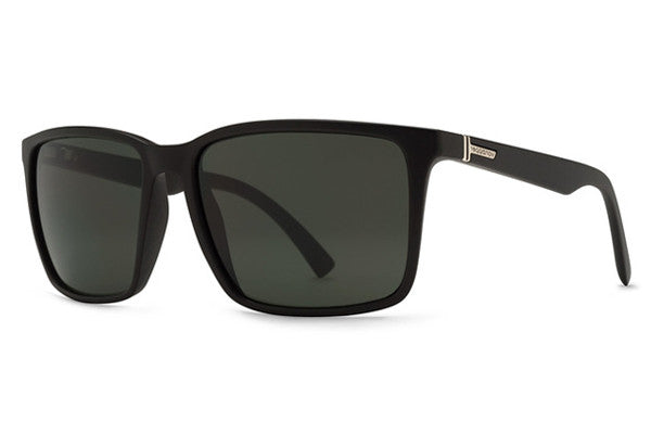 Von Zipper - Lesmore Black Satin BKS Sunglasses, Vintage Grey Lenses