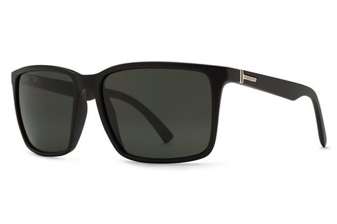 VonZipper - Lesmore Black Satin BKS Sunglasses, Vintage Grey Lenses
