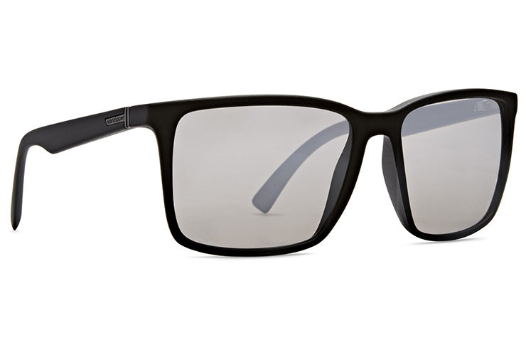 VonZipper - Lesmore Black Satin Sunglasses / Silver Chrome Lenses
