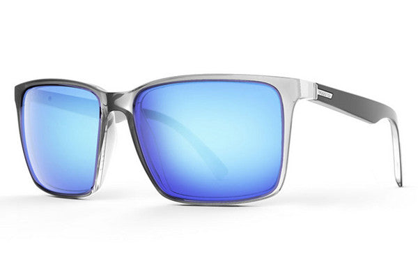 Von Zipper - Lesmore Crystal Black CYY Sunglasses, Sky Chrome Lenses