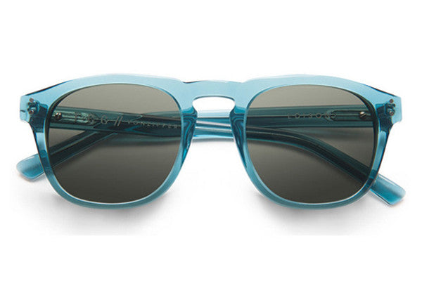 Von Zipper - Edison Crystal Blue CBV Sunglasses, Vintage Grey Lenses