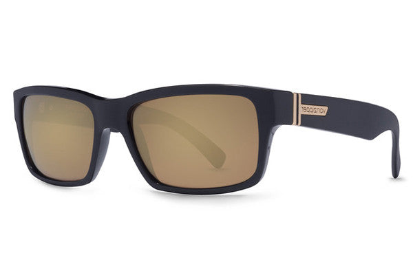 Von Zipper - Fulton Black BKD Sunglasses, Gold Glo Lenses