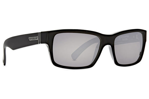 VonZipper - Fulton Black Gloss Sunglasses / Silver Chrome Lenses