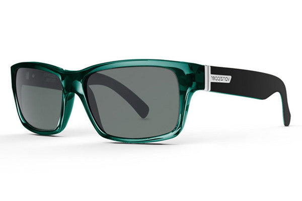 Von Zipper - Fulton Green Black Crystal GRG Sunglasses, Grey Lenses