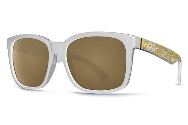 Von Zipper - Howl Party Animals White PYW Sunglasses, Gold Glo Lenses