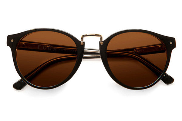 Von Zipper - Stax Black Crystal BCY Sunglasses, Bronze Lenses