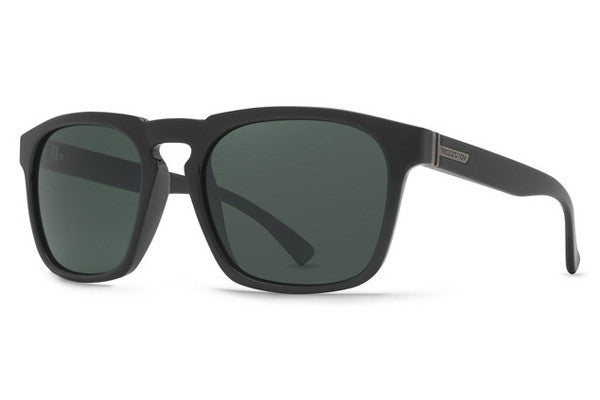 Von Zipper - Banner Black Gloss BKV Sunglasses, Vintage Grey Lenses