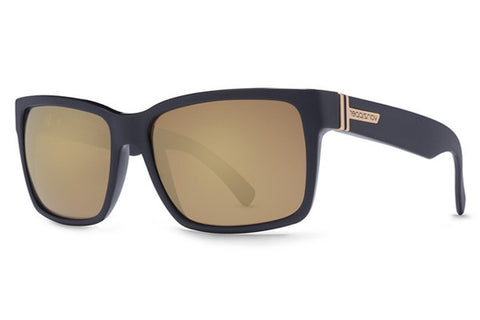 VonZipper - Elmore Black BKD Sunglasses, Gold Glo Lenses