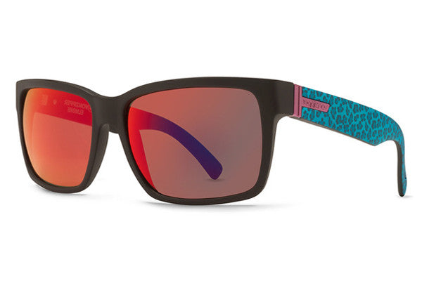 Von Zipper - Elmore Party Animals Black Blue PAB Sunglasses, Galactic Glo Lenses