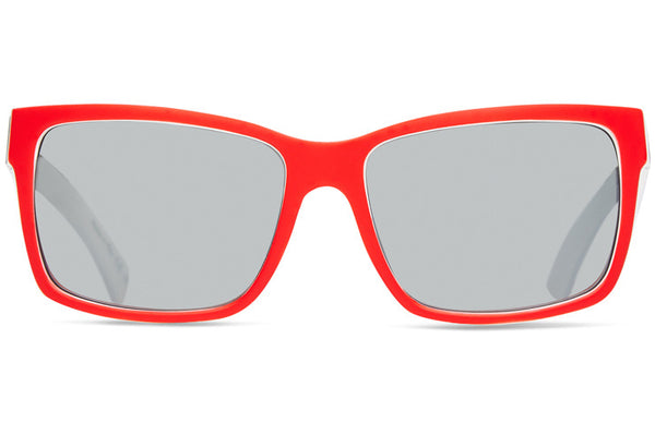17ee07c9a20 VonZipper - Elmore Red White Blue Sunglasses   Silver Chrome Lenses