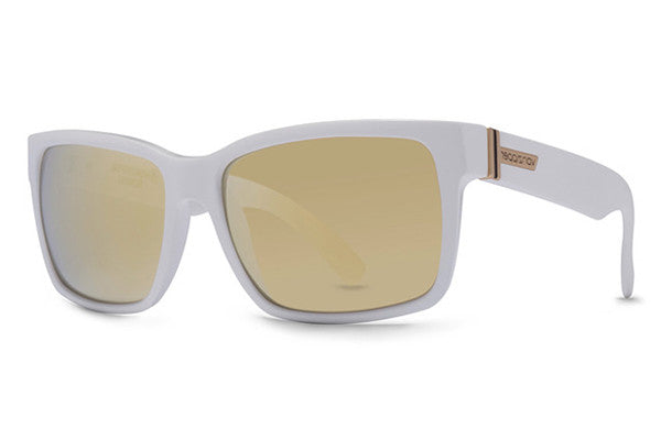 Von Zipper - Elmore White WHG Sunglasses, Gold Chrome Lenses