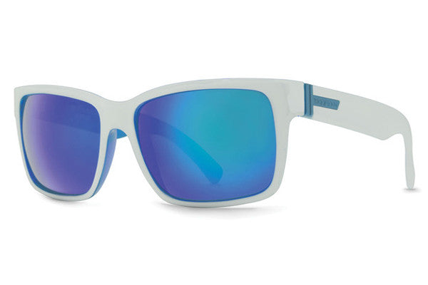 VonZipper - Elmore Mindglo White Gloss WSC Sunglasses, Sky Chrome Lenses