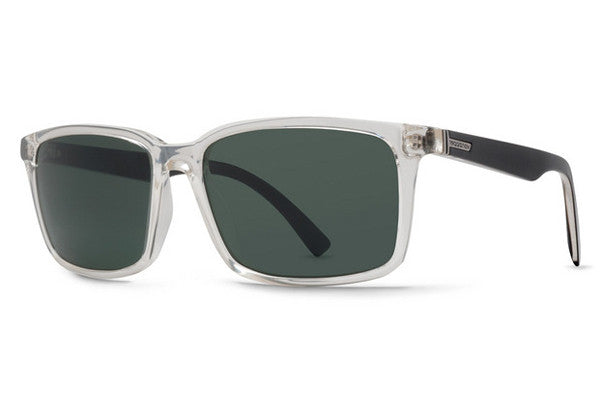 Von Zipper - Pinch Crystal Black CYK Sunglasses, Green Lenses