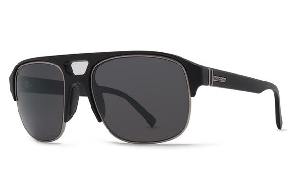 Von Zipper - Supernacht Black Satin BKS Sunglasses, Grey Lenses