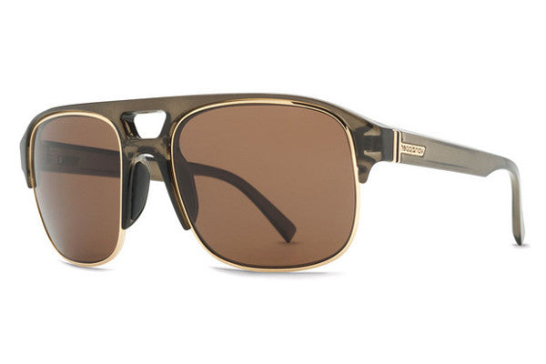Von Zipper - Supernacht Green Translucent Gold Gloss GRB Sunglasses, Bronze Lenses