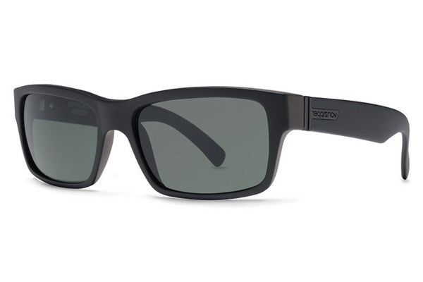 Von Zipper - Fulton Black Satin BKS Sunglasses, Grey Lenses