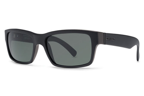 VonZipper - Donmega Black Satin BKS Sunglasses, Grey Lenses