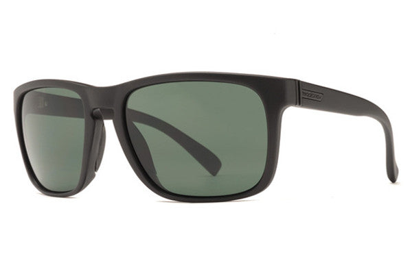 Von Zipper - Lomax Black Satin BKS Sunglasses, Vintage Grey Lenses