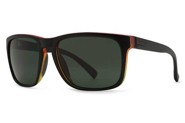 Von Zipper - Lomax Vibrations Black Satin VIS Sunglasses, Grey Lenses