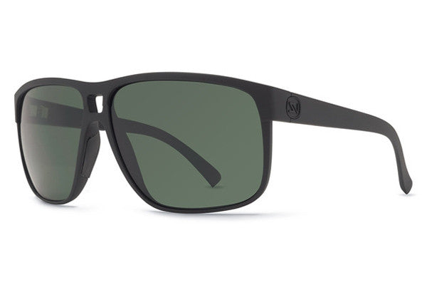 Von Zipper - Blotto Black Satin BKS Sunglasses, Vintage Grey Lenses