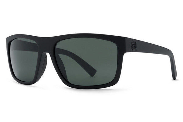 Von Zipper - Speedtuck Black Satin ASG Sunglasses, Full Frontal Grey Lenses