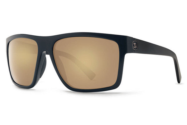 Von Zipper - Dipstick Black Satin Gloss Duo BKD Sunglasses, Gold Glo Lenses
