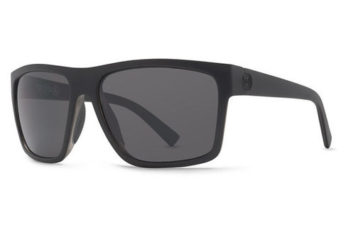 VonZipper Dipstick Black Satin BKS Sunglasses, Grey Lenses
